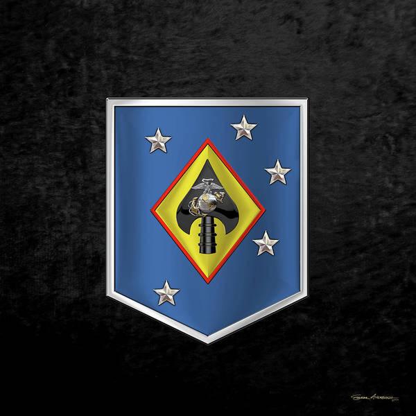 Digital Art - Marine Raider Support Group -  M R S G  Patch Over Black Velvet by Serge Averbukh