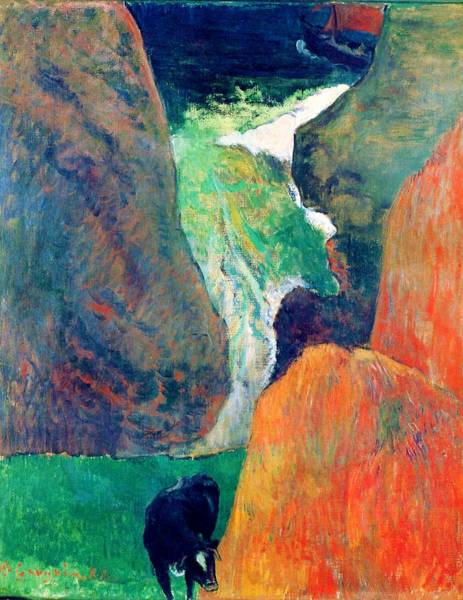 Wall Art - Painting - Marine With Cow, Or Above The Gulf - Digital Remastered Edition by Paul Gauguin