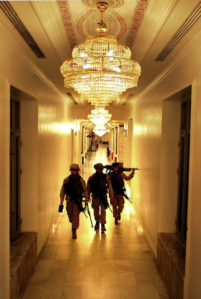 Us Marines Photograph - Marines Secure U.s. Embassy In Baghdad by John Moore