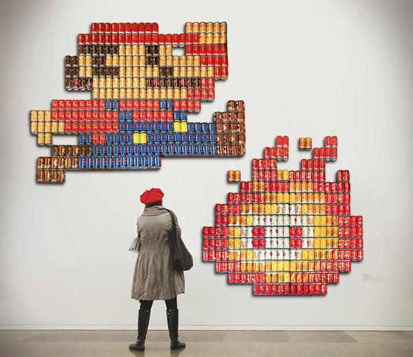 Soda Pop Mixed Media - Mario And Fireball by Seaton Brown