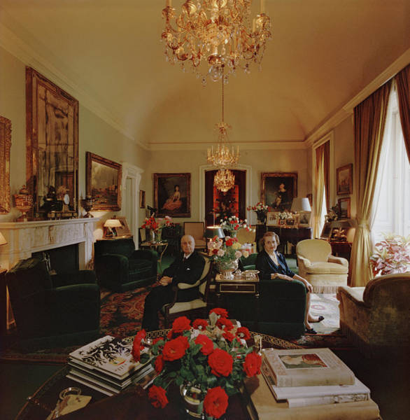 Wife Photograph - Mario Crespi And Wife by Slim Aarons