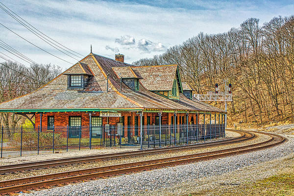 Photograph - Marion Virginia Depot by Dale R Carlson