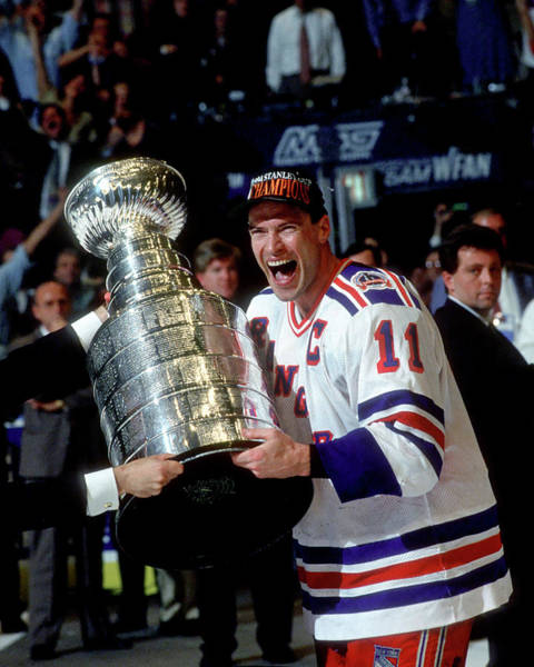 Messy Photograph - Mark Messier 1993-94 Stanley Cup by B Bennett