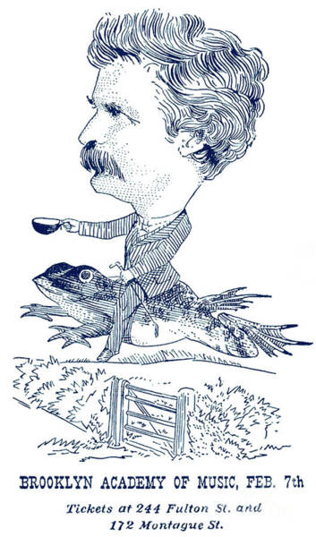 Wall Art - Drawing - Mark Twain Poster For Talk At Brooklyn Academy by American School