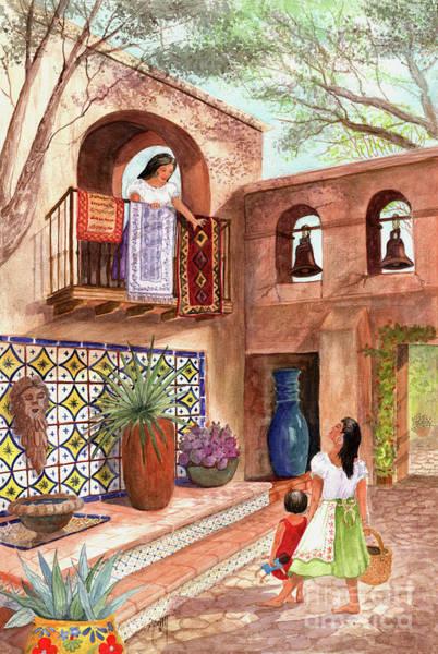 Sycamore Painting - Market Day El Mercado by Marilyn Smith