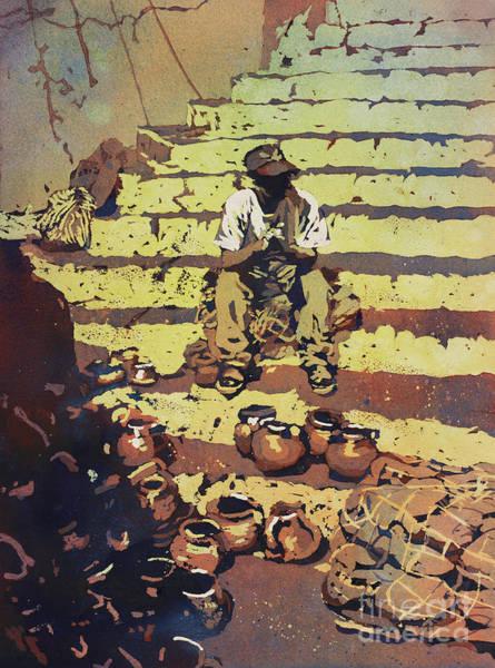 Wall Art - Painting - Market Day- Guatemala by Ryan Fox