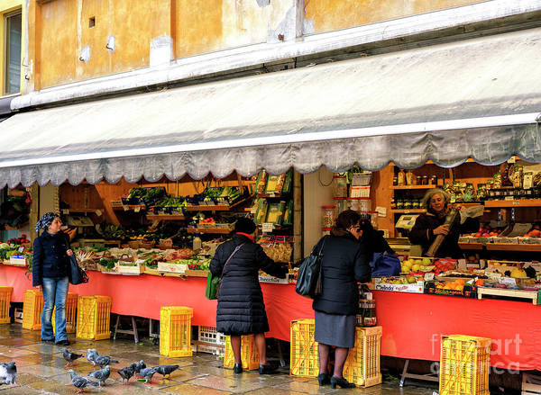 Photograph - Market Day In Venice by John Rizzuto