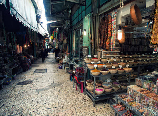 Roofs Photograph - Market In Old City Of Jerusalem by Georgy Kuryatov