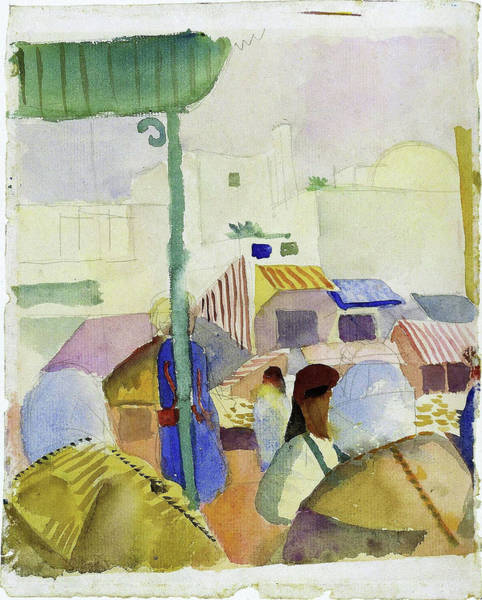 Wall Art - Painting - Market In Tunis II - Digital Remastered Edition by August Macke