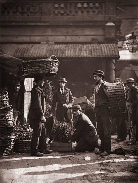 Porter Photograph - Market Porters by John Thomson