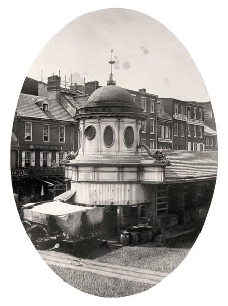Photograph - Market Sheds, Philadelphia, Ca. Late 1850s by Thomas S Hacker