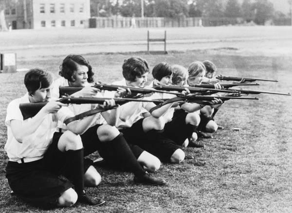 Rifle Photograph - Markswomen by Fox Photos