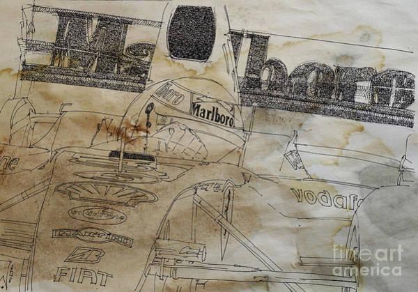 Formula 1 Digital Art - Marlboro F1 Ind And Coffee Drawing by Drawspots Illustrations