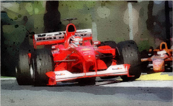Digital Art - Marlboro Race Edge by Gary Grayson