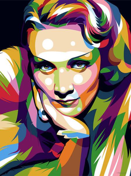 Pop Star Digital Art - Marlene Dietrich by Stars-on- Art