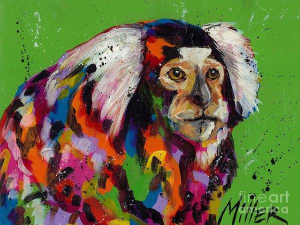 Wall Art - Painting - Marmoset by Tracy Miller
