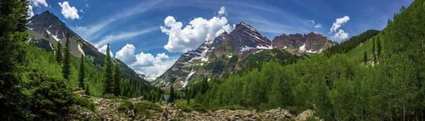 Photograph - Maroon Bells And Crater Lake Panorama by Andy Konieczny