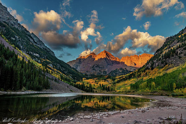 Photograph - Maroon Bells by Bill Gallagher
