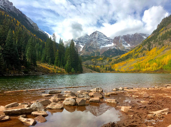 Photograph - Maroon Bells by Jacqueline Faust