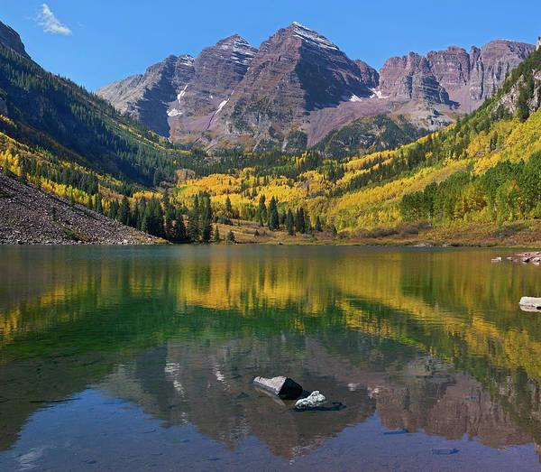 Photograph - Maroon Bells, Maroon Lake, Colorado by