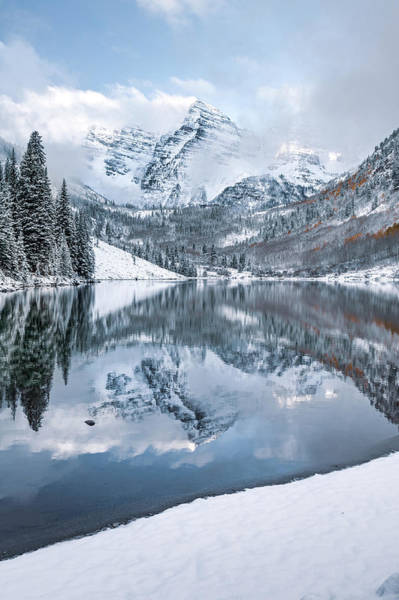 Photograph - Maroon Bells Morning Landscape by Gregory Ballos