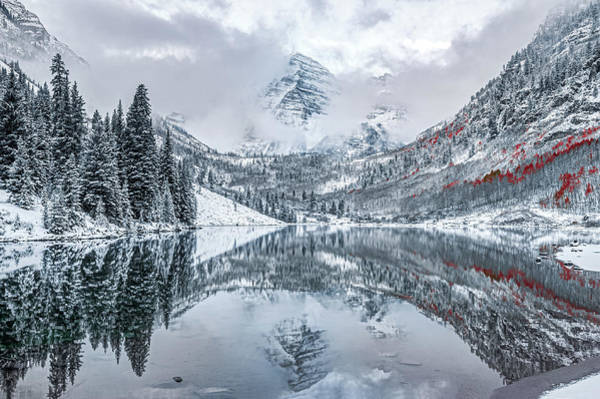 Photograph - Maroon Bells Mountain Reflections - Aspen Colorado Autumn by Gregory Ballos