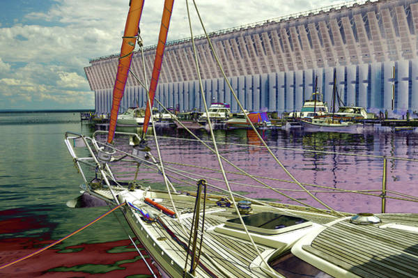 Marquette Ore Dock Lower Harbor. Art Print