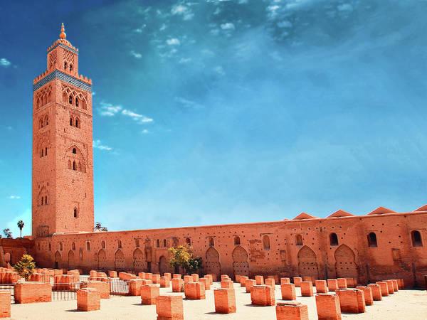 Patio Photograph - Marrakech, Koutoubia Mosque by Alberto Manuel Urosa Toledano