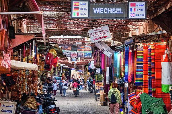 Photograph - Marrakech Market Street Scene - Morocco by Stuart Litoff