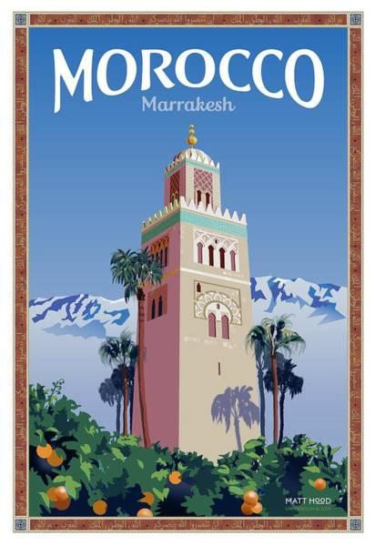 Marrakesh Travel Poster Art Print