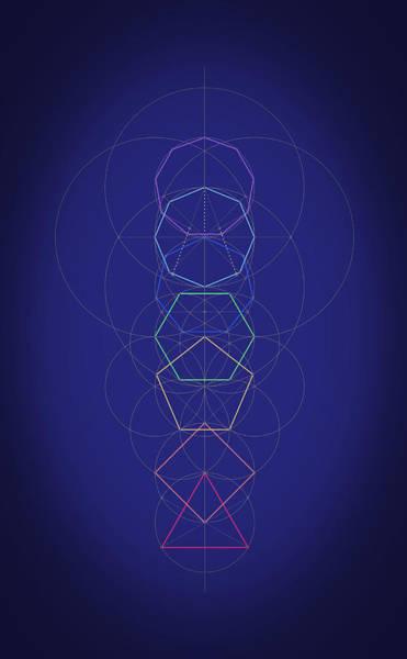 Digital Art - Marriage Of Polygons by Scott Onstott