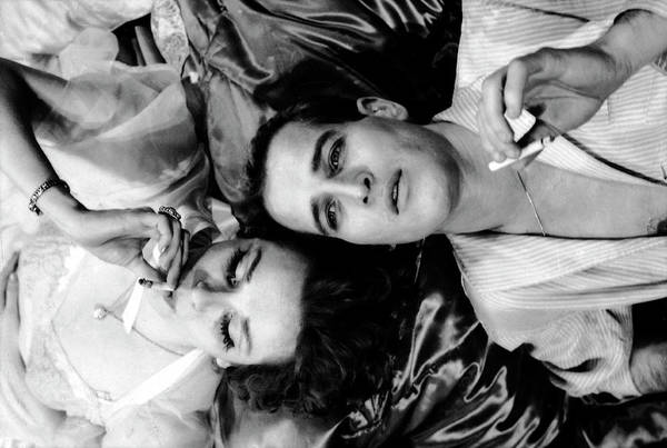 Horizontal Photograph - Married Actors Joanne Woodward And Paul by Gordon Parks