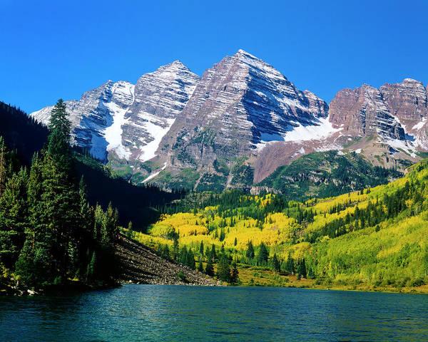 Photograph - Marron Bells In Colorado Fall by Mark Miller Photos