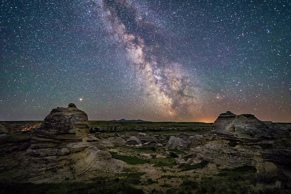 Photograph - Mars And The Galactic Center Of Milky by Alan Dyer