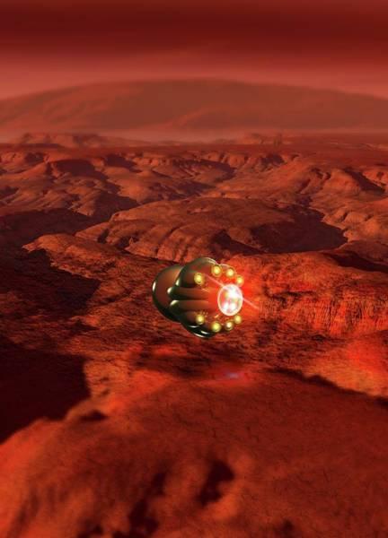 Space Exploration Digital Art - Mars Probe, Conceptual Artwork by Victor Habbick Visions