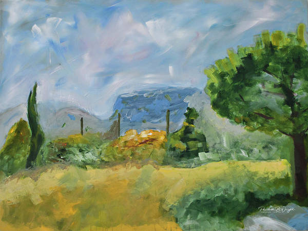 Painting - Marseille Countryside by Paulette B Wright
