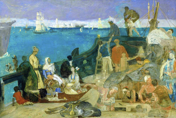 Wall Art - Painting - Marseilles, Gateway To The Orient - Digital Remastered Edition by Pierre Puvis de Chavannes