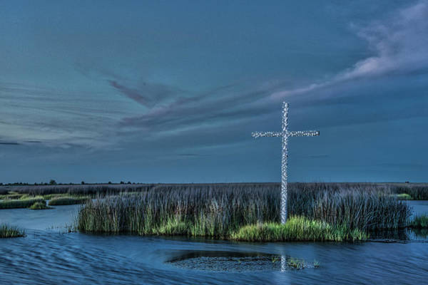 Photograph - Marsh Cross At Dusk by Jerry Gammon