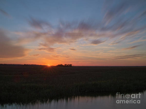 Photograph - Marsh Sunset by Patrick M Lynch