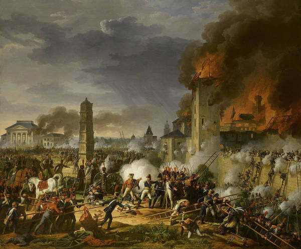 Wall Art - Painting - Marshal Lannes Leads The Storming Of The Citadel At The Battle Of Ratisbon, 1809 by Charles Thevenin