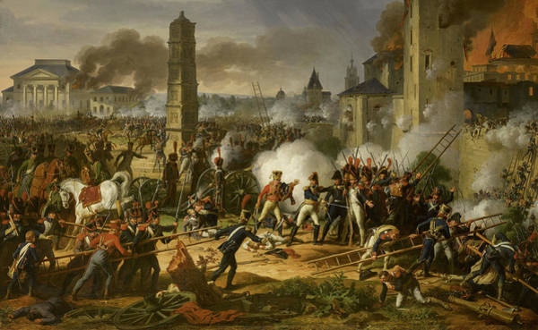 Wall Art - Painting - Marshal Lannes Leads The Storming Of The Citadel At The Battle Of Ratisbon by Charles Thevenin