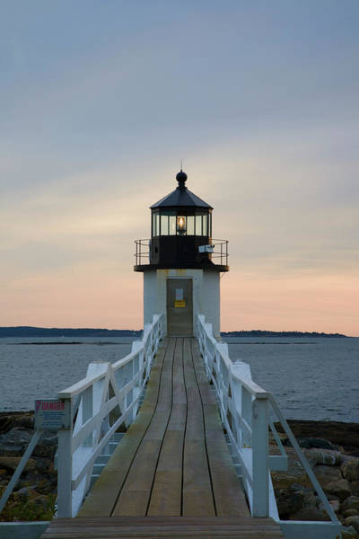 Nautical Photograph - Marshall Point Light by Kickstand