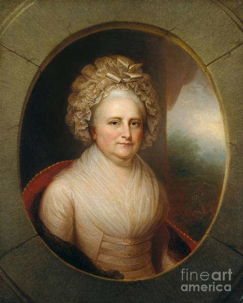 Photograph - Martha Washington by Rembrandt Peale