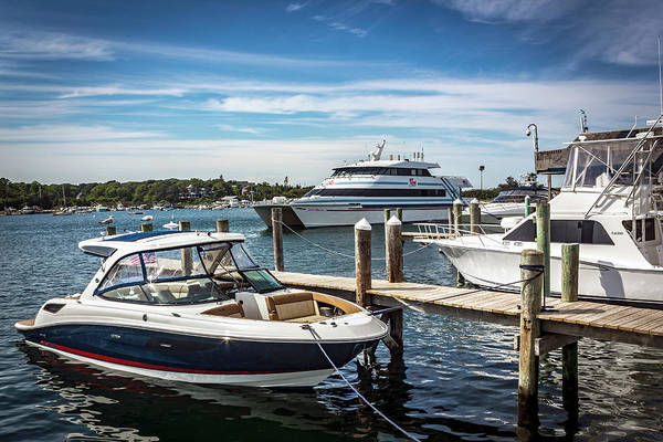 Photograph - Boats In Marthas Vineyard Series 7631 by Carlos Diaz