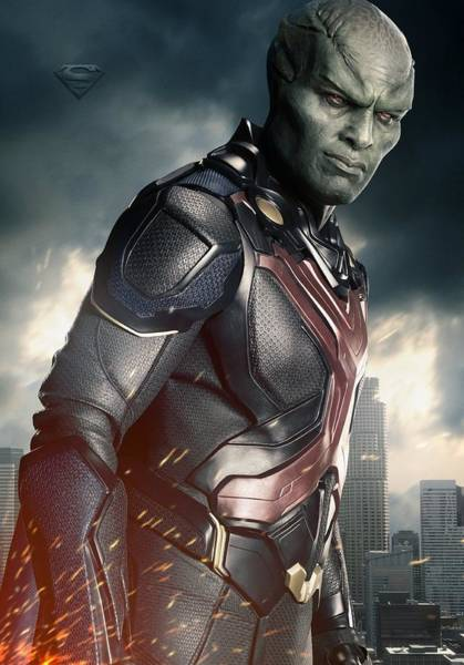 Wall Art - Digital Art - Martian Manhunter   Superman by Geek N Rock