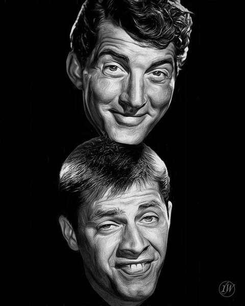 Dean Martin Digital Art - Martin And Lewis by Rick Wiles