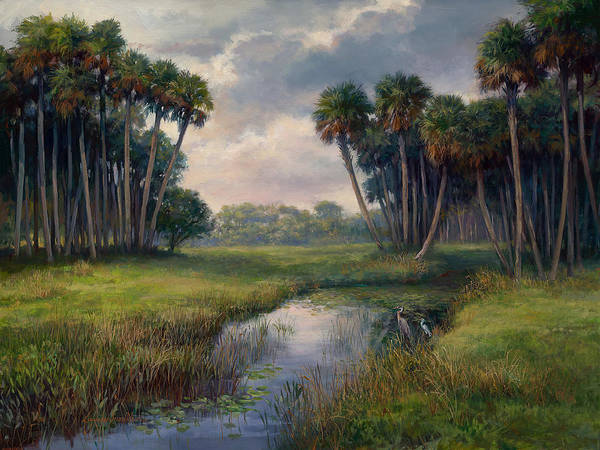 Lake Okeechobee Wall Art - Painting - Martin County Highway by Laurie Snow Hein