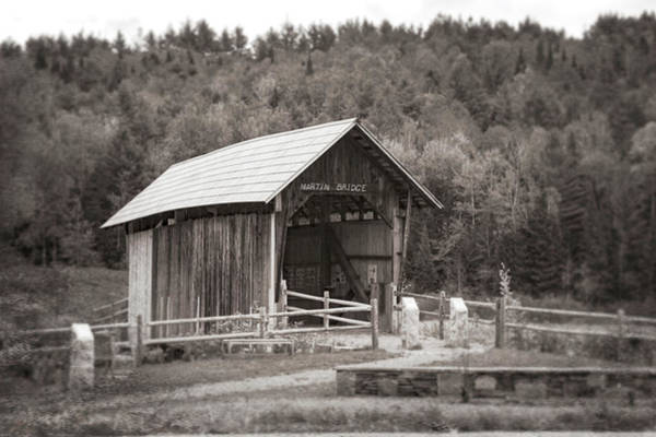 Photograph - Martin Covered Bridge In Black And White by Jeff Folger