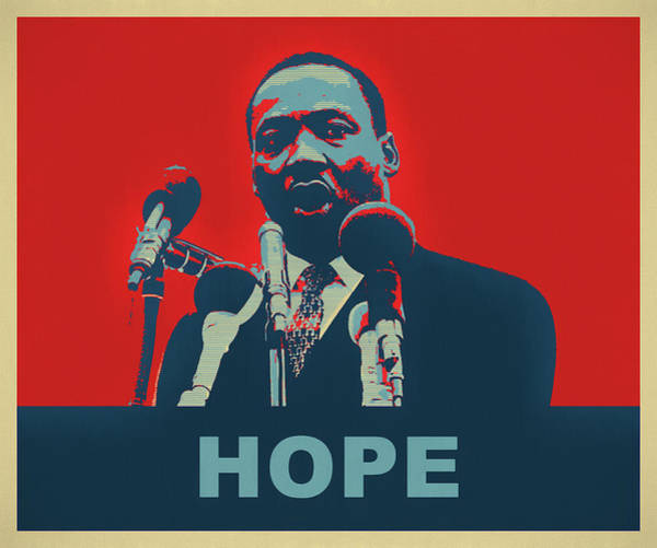 Wall Art - Mixed Media - Martin Luther King Hope by Dan Sproul