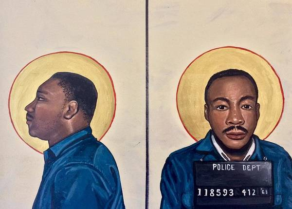 Painting - Martin Luther King Jr.  by Kelly Latimore